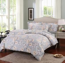 Catalpa Blossoms 100% Cotton Bedding Set:1 Duvet Cover 2 Pillow Shams Queen/King