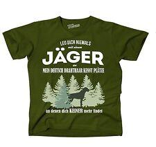 T-Shirt OLIVE JÄGER DEUTSCH DRAHTHAAR kennt Plätze niemand findet Siviwonder