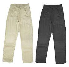 WOMEN'S Nuovo Nero Oro Satin Look Slim Fit Pantaloni 28 in (ca. 71.12 cm) interno gamba 6 a 10