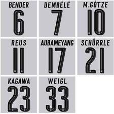 BVB Dortmund Flock Home für gelbe Trikots 2016/2017/2018 Farbe schwarz
