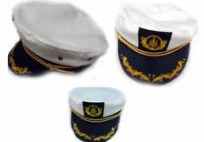 Militare Esercito Forze Costume Bianco UNA TAGLIA Marinaio CAPITANO Cappello LINEA UOMO