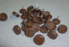 CHAIR GLIDES Brown Nylon Nail-On Protection Furniture Leg (TWO Sizes) ~ FREE P&P