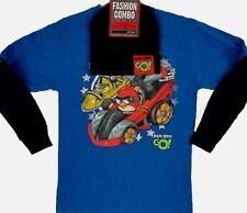 Angry Bird Long Sleeve t-Shirt 4 5 8 10 12 14 16 18 Child w Beanie New XS M L XL