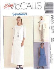 UNCUT McCalls Sewing Pattern Misses SEWNEWS Vest Pull on Pants Skirt 2620 OOP FF