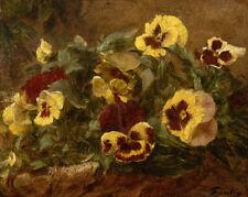 "Henri Fantin-Latour : ""Pansies"" (1903) — Giclee Fine Art Print"