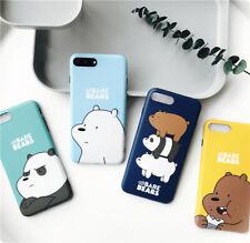 Cute Cartoon We Bare Bears Soft TPU Case Cover for iPhone 7 7 Plus 6 6s Plus