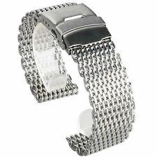 Bracciale per orologio milanese in acciaio inossidabile con cinturino in squalo