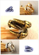 Punk gothic biker gothic vintage bronze / gold / silber klaue ring