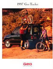 1997 Geo Chevrolet Tracker 24-page Original Sales Brochure Catalog - Chevy