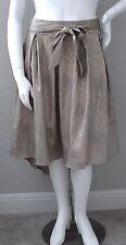 Zenobia Abstract Animal Print Hi Low Stretch Full Pleated Skirt Plus 1XL 2XL 3XL