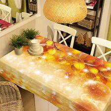 3D Feuille d'or 84 Nappe Table Cover Cloth Fête D'Anniversaire Événement AJ papier peint UK