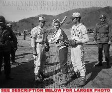 MARILYN MONROE LEARNING TO BASEBALL (1) RARE 4x6 PHOTO