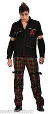Camicia NUOVA Dead Threads Rosso Borchie Uomini Metallo Punk Emo Rock