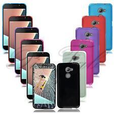 For Vodafone Smart V8 VFD 710 New Clear Genuine Gel Rubber Phone Case + T Glass