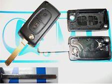 Guscio cover scocca chiave telecomando 2 tasti e porta batteria Citroen C3 C4 C2