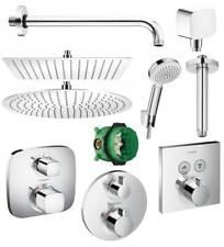 Hansgrohe Thermostat Unterputz Duscharmaturen Set ibox Armatur Duschteller 30 cm