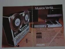 advertising Pubblicità 1971 REGISTRATORE PHILIPS N 4450