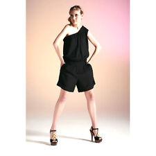 BNWT Designer KOOKAI Black One-Shoulder Playsuit/Shorts 8 10 12 *Party/Summer*
