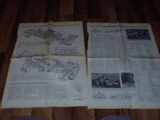 2 Zeitungsseiten von 1973:  LOTUS 72 D  + TYRRELL 006/erfolgreichste Grand-Prix