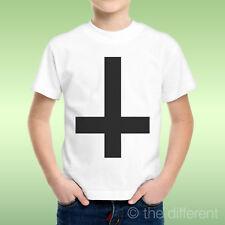 T-Shirt Baby Boy Cross Black Upside down Black Crossidea Gift