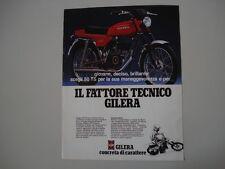 advertising Pubblicità 1980 MOTO GILERA 50 TS