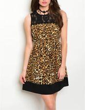 Designer Ladies New Animal Print Cheetah Stripe Dress Sexy Hot Limited