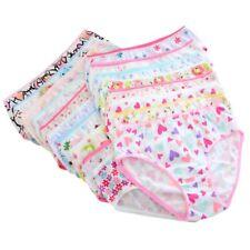 6PCS Baby Kid Girl Cotton Short Cartoon Briefs Underwear Soft Panties Underpant