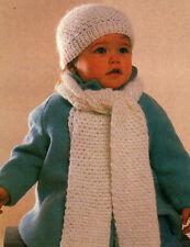 COZY Child's Hat & Scarf/Crochet & Knit Pattern Instructions