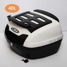40L Large Waterproof Motorcycle Top Box Motorbike Top Mounted Rack Soft Backrest