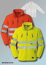 4PROtect Fleece Jacke SEATTLE in Warnfarben leuchtgelb leuchtorange Gr S bis 4XL