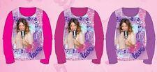 Violetta Disney maglietta manica lunga T-shirt cotone 100% bambina ragazza