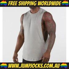 Grey Sleeveless T-Shirt - Gym, Fitness, Workout, Top *FREE WORLDWIDE SHIPPING*