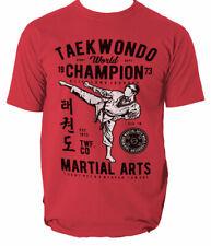 T Shirt Taekwondo Martial Arts Mens Tkd Mma Korean Top Tee Funny Ufc Mixed S-3XL