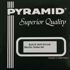 Pyramid guitare électrique noir rond Nylon Cordes Lot E-Guitar STRINGS LOT