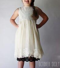 Girls Full Slip Lace Dress Extender, 3 Colors, 4 Sizes, Kids Childrens, skirt