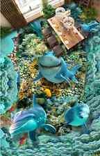 3D fish sea world 8743 Floor WallPaper Murals Wall Print Decal 5D AJ WALLPAPER
