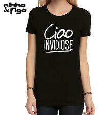 T SHIRT Ciao Invidiose maglietta fashion HAPPINESS VIP STYLE TSHIRT donna swag