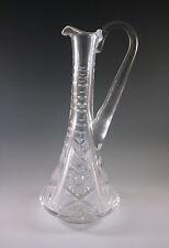 ANTIQUE AMERICAN BRILLIANT CUT GLASS CONE SHAPED WINE DECANTER, HAWKES?