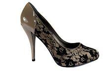 Elegante Damen Abendschuhe Party Pumps High Heels Gr.36-40 Khaki A.3564-11