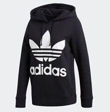 Adidas Originals Women's ADICOLOR TREFOIL HOODIE Black CE2408 c