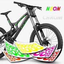 Blasen Kreise   NEON Aufkleber   Sticker Set 20-teilig Fahrrad Aufkleber
