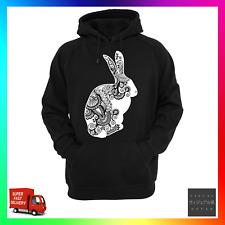 Zentangle Rabbit Hoodie Hoody Unisex Bohemian Art Fresh Cool Xmas Bunny Cute