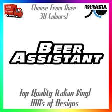 Adesivo Decalcomania assistente di birra 20x5cm auto benzina gas Fast Cool Regalo preventivo