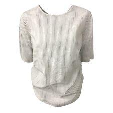PENNYBLACK suéter mujer media manga rayas crema/negro mod EDEN 100 % algodón