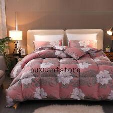 Flowers Bloom Pattern Duvet Twin Full Queen Ultra Soft Insert Filler  Comforter