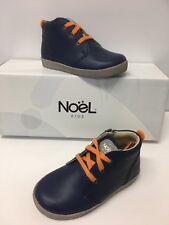 Noel Mini bianco Garçons Bottes en bleu royal en cuir avec orange (5Y052813E)