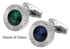 Swarovski Crystal Gem Stone Mens Gift Cuff links   by CUFFLINKS DIRECT