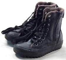 Converse 645192C Youth CT Hi Hillcrest Black Leather Zip  US12 - UK11.5 - EUR29