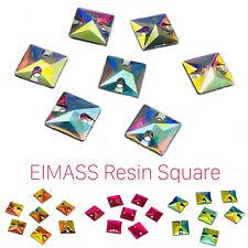 Resin Square Shape Crystals - EIMASS® Sew or Glue on Flat Back Gems Rhinestones