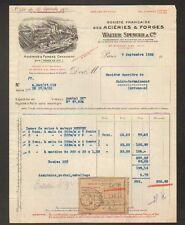"""PARIS (XVII°) USINE ACIERIE & FORGES CRESCENT """"WALTER SPENCER & Cie"""" en 1932"""